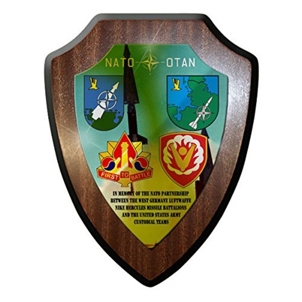 Wappenschild / Wandschild -NATO partnership Missile Battalions Artillery #7647