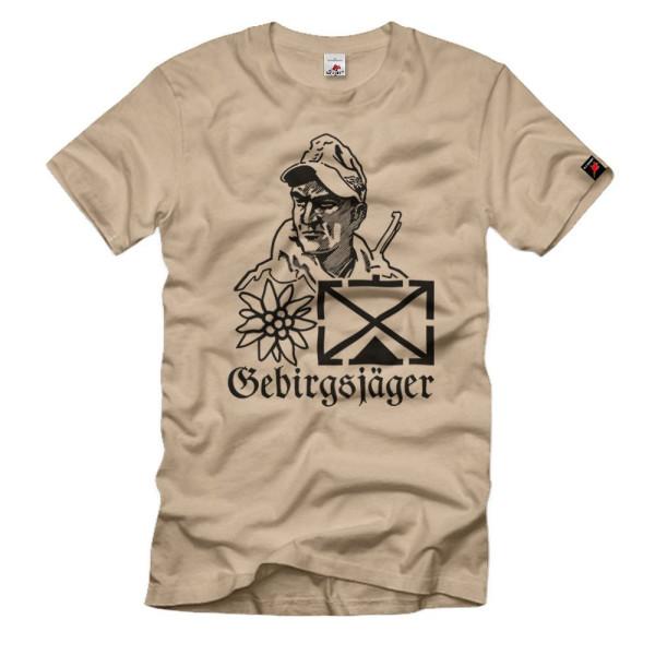 BW Gebirgsjäger Taktische Zeichen Edelweiss Bundeswehr T-Shirt #36007