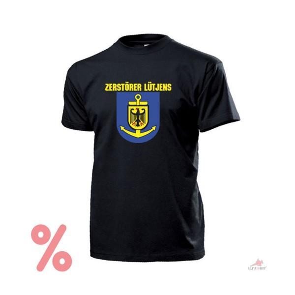 SALE Shirt Lütjens Typ 2 D185 Marine Wappen Bundesmarine Schiff T-Shirt #R369