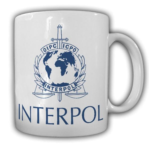 Interpol Polizei Internationale kriminalpolizeiliche Organisation Tasse #14208