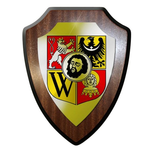 Wappenschild - Breslau Polen Schlesien Johannes der Täufer Löwe Adler #9275