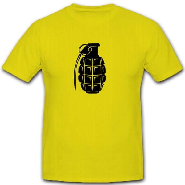 Handgranate Wurfwaffe Waffe Krieg Militär Ananas - T Shirt #5601
