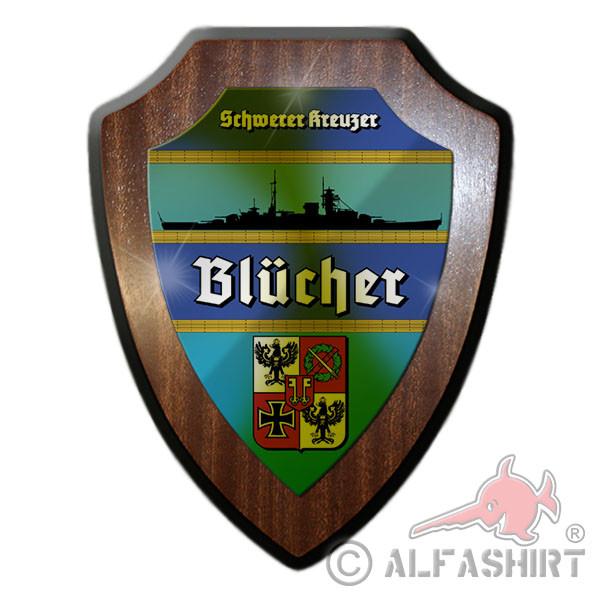 Wapenschild Schwerer Kreuzer Blücher Schiff Gedenk Tafel Oslofjord #12066
