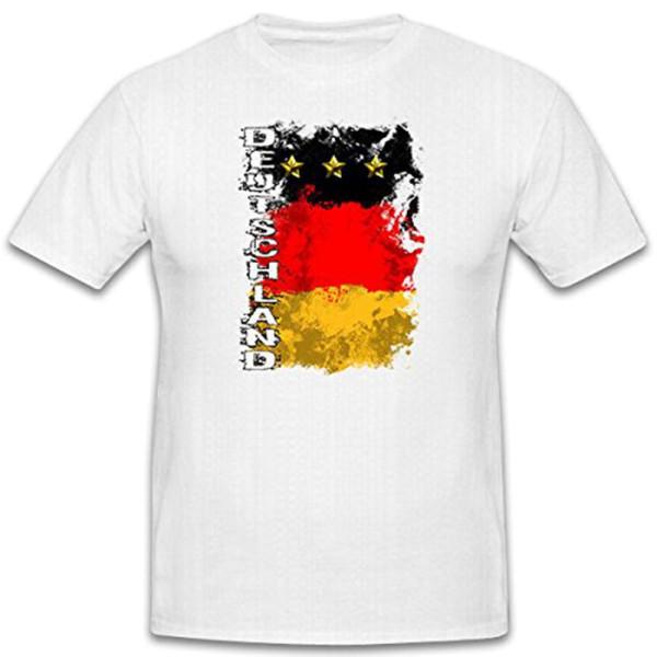 Germany soccer jersey WM Fan black red gold flag Public - T Shirt # 12477