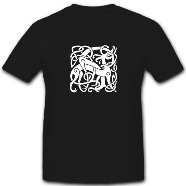 Wikinger Fabeltier Celtisch Runen Thor Odin Wappen - T Shirt #2237