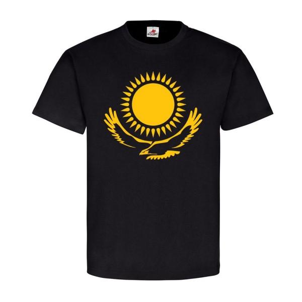 Kasachstan Kazakstan Russland Republik Land Wappen Adler Sonne- T Shirt #12786