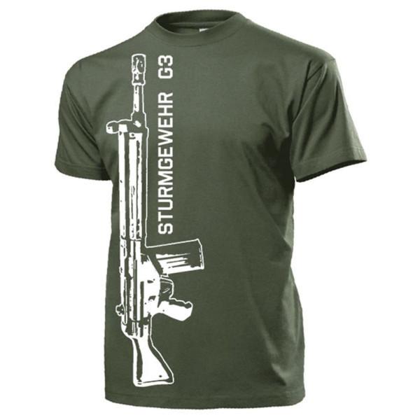 Sturmgewehr G3 Bundeswehr Gewehr Männer Waffe Deko Militär - T Shirt #14781