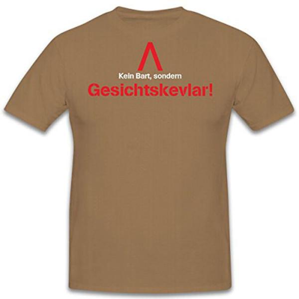 Kein Bart sondern GESICHTSKEVLAR !Männer Vollbart Kugelsicher - T Shirt #11112