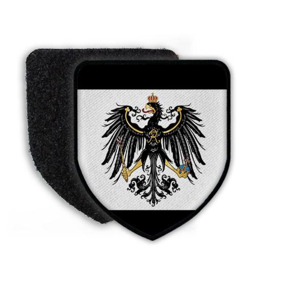 Patch Preußen Fahne Flagge Adler Deutschland Germany Aufnäher Alter Fritz #20433