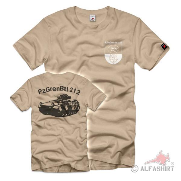 3 PzGrenBtl 212 Bundeswehr Einheit Panzer Grenadier dran T-Shirt#36903