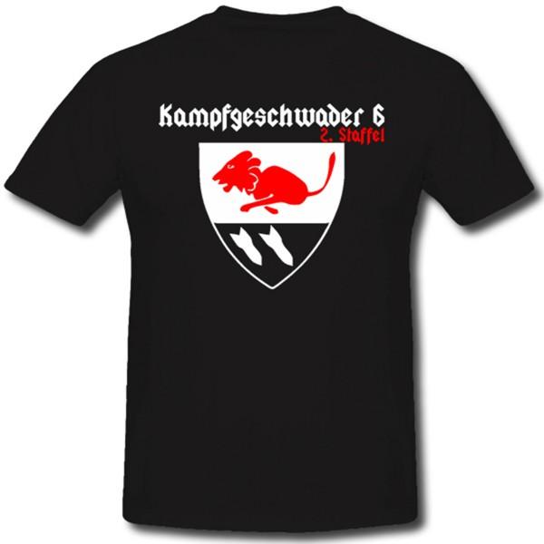 Kampfgeschwader 6 Flugzeug Luftwaffe Luftanschlag Luftflotte Fliegerkorps - T Shirt #1083
