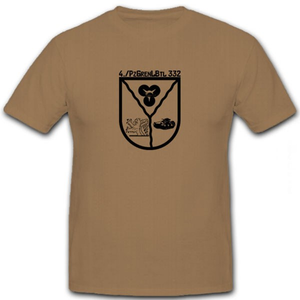 4 PzGrenLBtl332 Bundeswehr Wappen Emblem Abzeichen Militär - T Shirt #6577