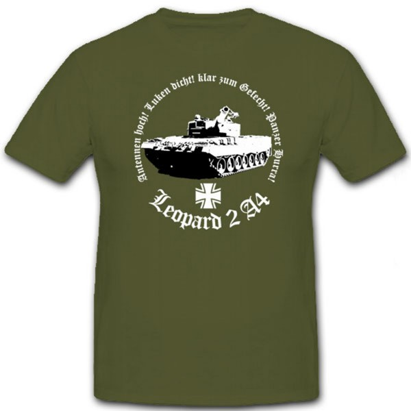 Leopard 2 A4 Antennen hoch Luken dicht klar zum Hurra bundeswehr - T Shirt #7163