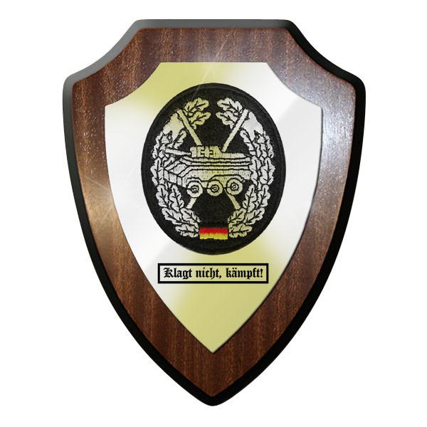 Wappenschild - Barettabzeichen Panzeraufklärung Panzer klagt nicht, kämpft#11685