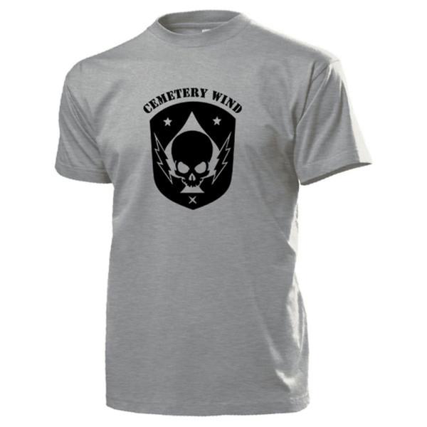 CEMETERY WIND CIA Black Ops Division Wappen Abzeichen Emblem - T Shirt #13970