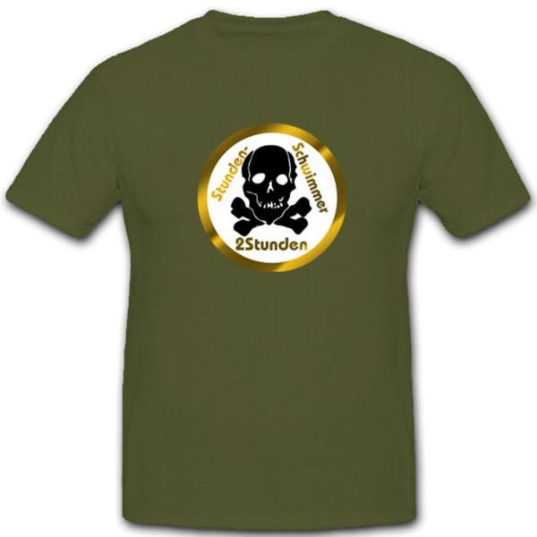 Stundenschwimmer Abzeichen Schwimmen Kampfschwimmer Gold - T Shirt #4294