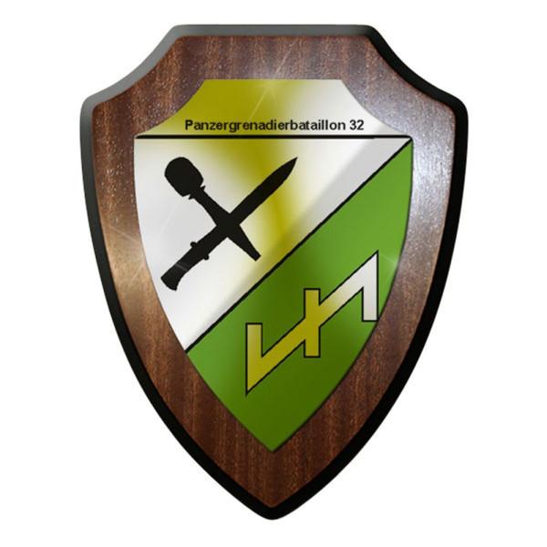 Wappenschild / Wandschild / Wappen - Panzergrenadierbataillon 32 Heer #8354