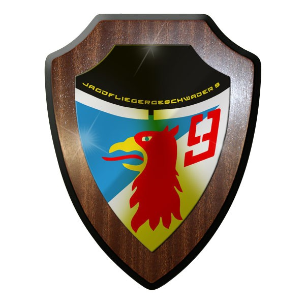Wappenschild Jagdfliegergeschwader 9 Luftwaffe JG 9 NVA DDR Wappen Emlem #8841