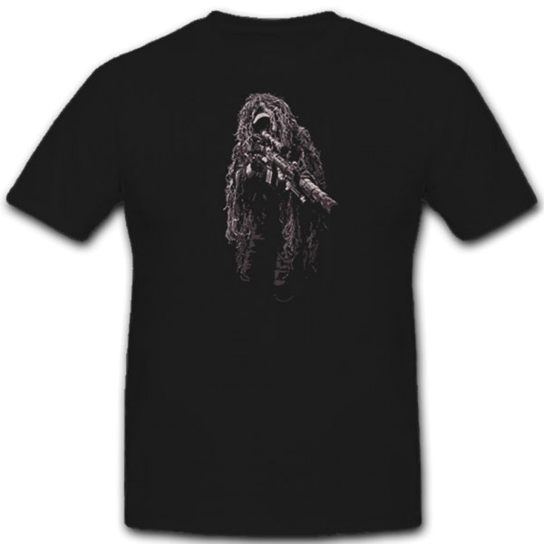 Ghillie Suit Sniperl Sniper Camouflage US Army USMC Scout - T Shirt # 11302