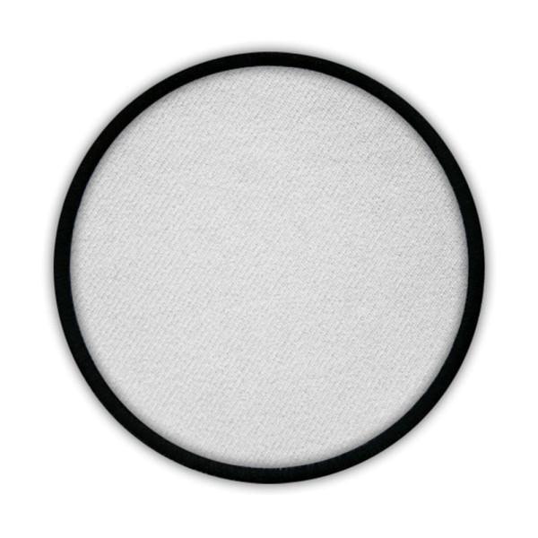 Aufnäher rund Patch Rohling Sublimationsdruck Bedruckbar Klett 75mm #16879