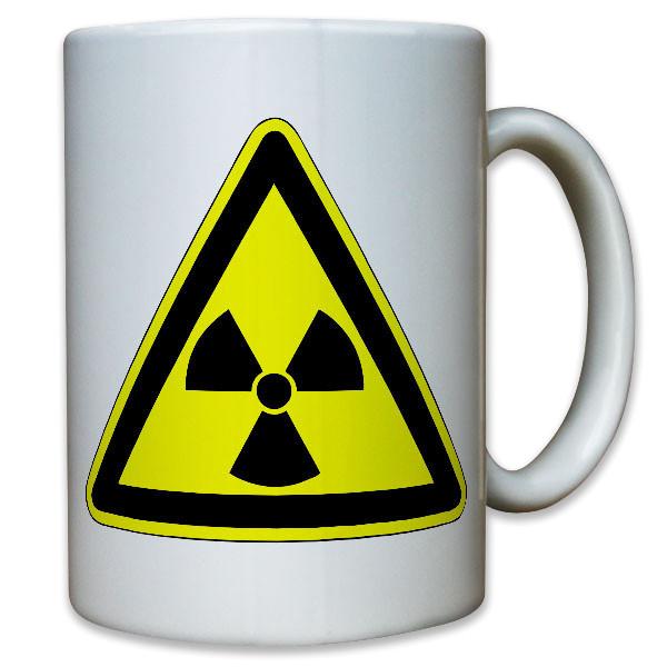 Radioaktivität radioaktive Strahlung Uran Atom Warnung Warnzeichen Tasse #12207