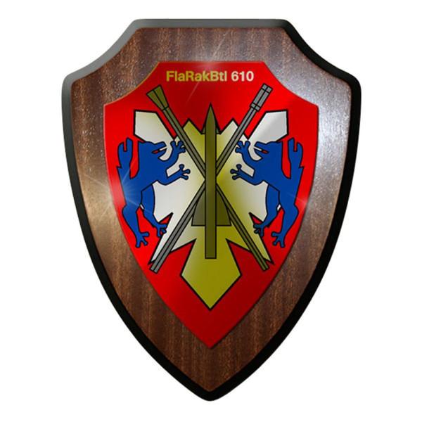 Wappenschild / Wandschild - FlaRakBtl 610 Flugabwehrraketenbataillon #12901