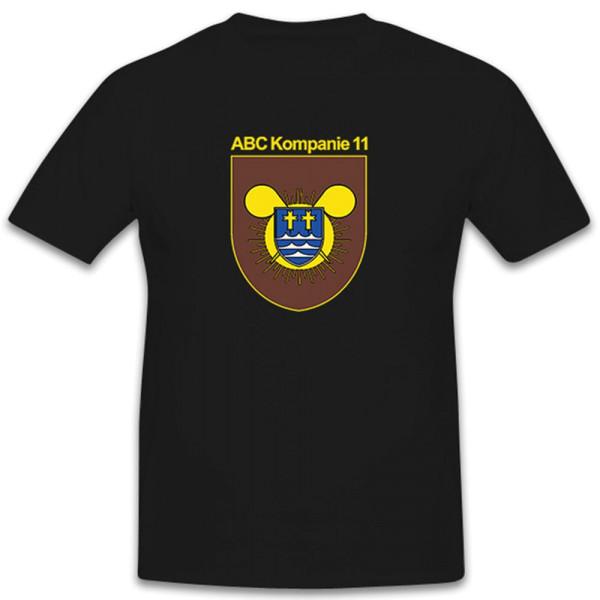 ABC Kp 11 Abwehr Kompanie Wappen Bundeswehr Atom Bio Chemie - T Shirt #11072