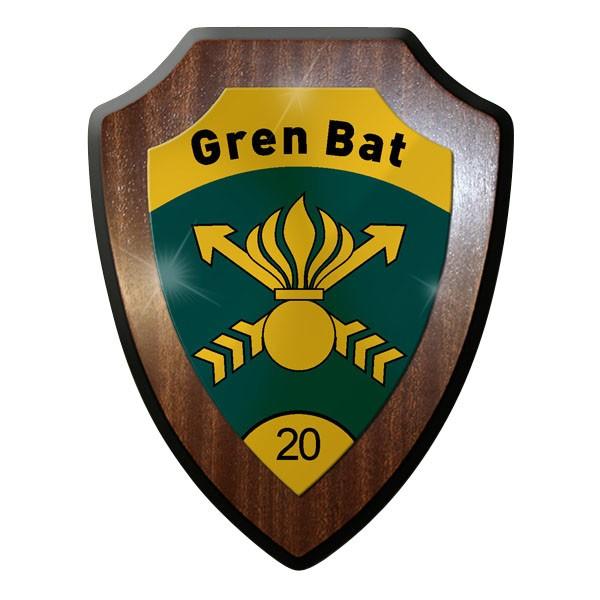 Wappenschild / Wandschild - Gren Bat 20 KSK Grenadierbataillon 20 Armee #11904