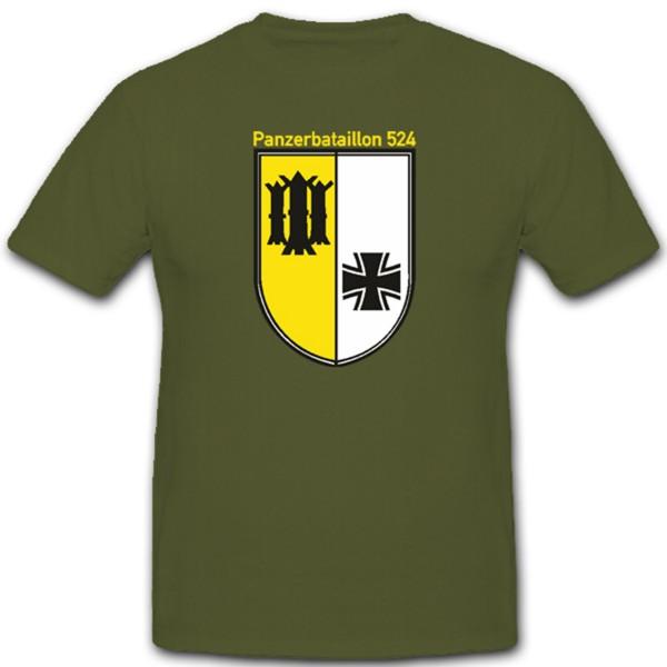 Panzerbataillon 524 Panzer Btl Lingen Bundeswehr Wappen - T Shirt #1275