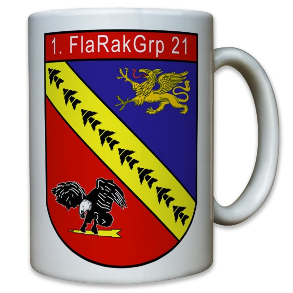 Wappen Flarak 5 21 Flugabwehr Raketen Kompanie Bataillon - Tasse #11808