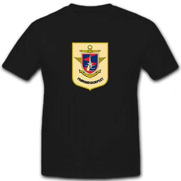 FRØMANDSKORPSET - Wappen Typ II Dänische Kampfschwimmer - T Shirt #12471