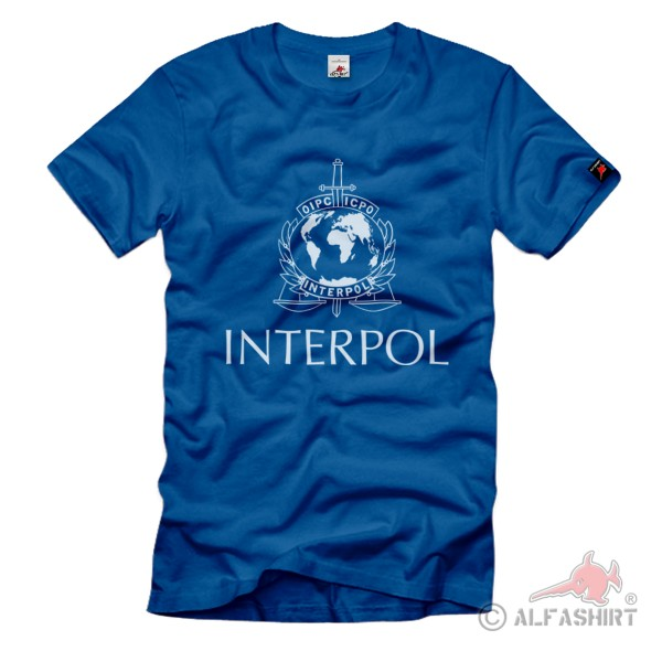 Interpol Polizei Internationale kriminalpolizeiliche Organisation T-Shirt#37092