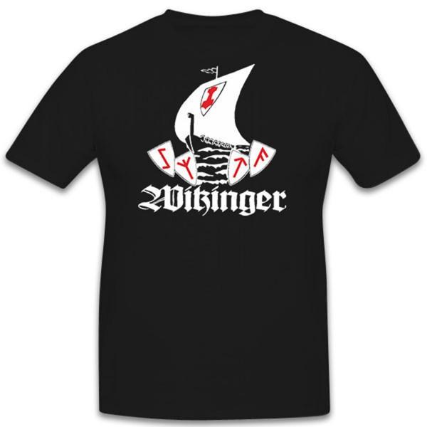 Wikinger Schiff Kriegsschiff Wikingerschiff- T Shirt #5437