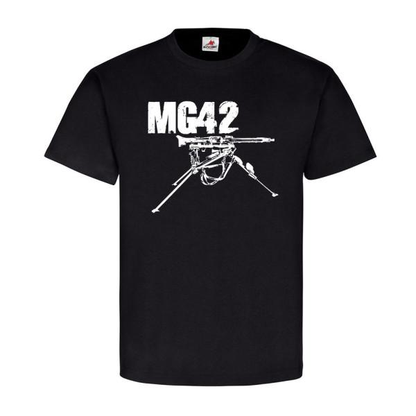 s MG42 auf Lafette schweres deutsches Maschinengewehr 42 Waffe T-Shirt #19416
