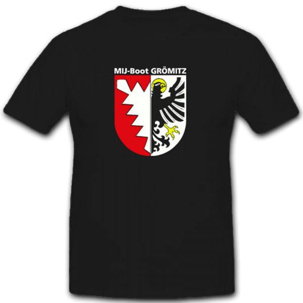 Minenjagdboot GRÖMITZ Bundeswehr Bund Bw Marine Wappen - T Shirt #11311