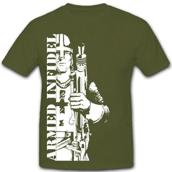 Armed Infidel Kreuzritter Ritter Ungläubiger - T Shirt #8737