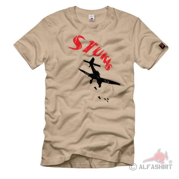 Stuka Bomber Ju87 dive bomber Luftwaffe Germany - T Shirt # 1175