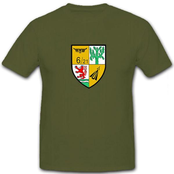6 FlaRakGrp 21 Flugabwehrraketengruppe Staffel Bundeswehr - T Shirt #12795