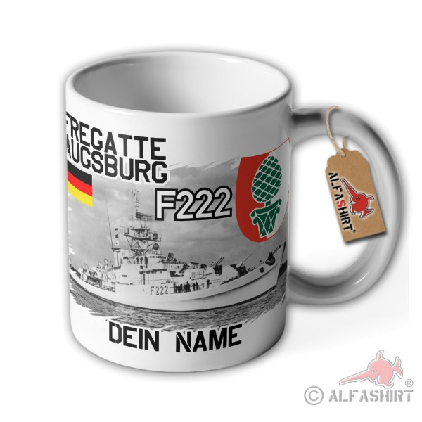 Cup frigate Augsburg F222 personalized ship Cologne class Bundeswehr # 36062