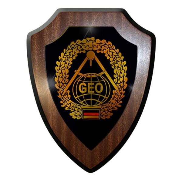 Wappenschild / Wandschild -Topographie Kartenkunde Deutschland Emblem#7412