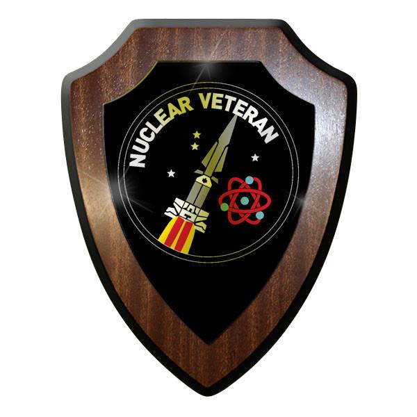 Wappenschild / Wandschild / - Nuclear Veteran Hercules Rakete Atom Emblem #10043