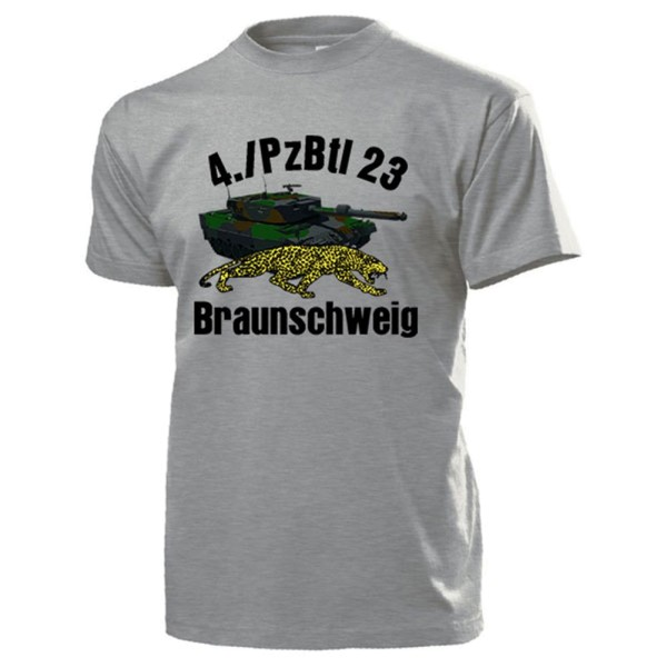 4 PzBtl 23 Braunschweig Bundeswehr Panzerbataillon 2A4 Leo - T Shirt #14227